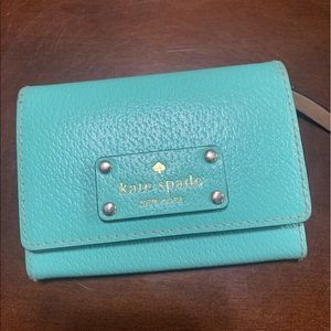 Turquoise Kate Spade Small Wallet